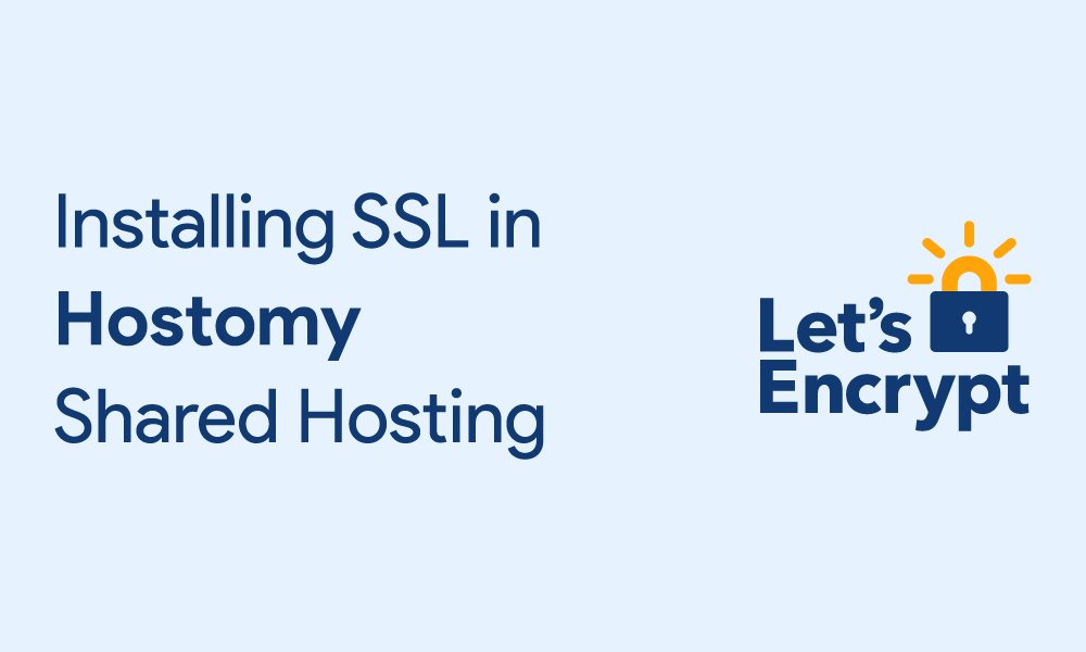 Installing SSL in Hostomy Shared Hosting