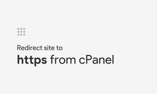Redirect site to https from cPanel